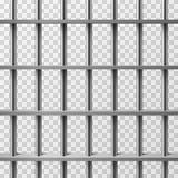 Więzienie komórki bary odizolowywający Więźniarski wektorowy tło ilustracja wektor