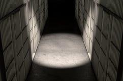 Więzienie komórki korytarza wierzchołek Obrazy Royalty Free