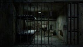 Więzienie z otwarcia i przymknięcia drzwi ilustracja wektor