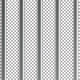 Więzienie zakazuje wektorową ilustrację Odizolowywający na przejrzystym tle 3D żelazo Lub Stalowa Więźniarskiego domu siatki ilus Obraz Stock