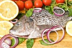 wiśni cytryna rybia świeża Zdjęcia Stock
