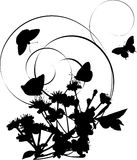 wiśni kędziorów kwiaty silhouette drzewa Fotografia Royalty Free