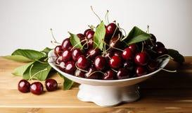 wiśni kolekci owoc liść warzywo Obraz Royalty Free