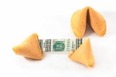 Wi abertos chineses do bolinho de fortuna Imagens de Stock Royalty Free