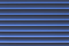 WI bleuâtres grisâtres légers bleus fins d'abat-jour vénitiens de jalousie d'indigo Photographie stock libre de droits