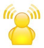 wi för fi-symbolsanvändare Royaltyfri Fotografi