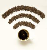 Wi-Fi咖啡 库存图片