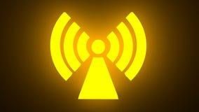Wi Fi无线网络标志 库存例证