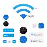 Wi-Fi时髦的现代商标,象,标志 免版税库存图片