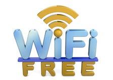 Wi-Fi自由的3D 图库摄影