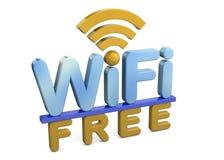 WI-Fi ελεύθερη - τρισδιάστατος Στοκ Φωτογραφία