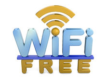 Wi-Fi свободно- 3D Стоковая Фотография
