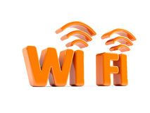 Wi Fi. 3d icon of wifi concept Royalty Free Stock Photo