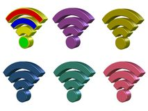 Wi Fi 3D Royalty Free Stock Photo