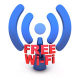 Wi-fi. Abstract Wi-fi on white background (done in 3d Royalty Free Stock Photo