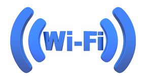 Wi-fi. Abstract Wi-fi on white background (done in 3d Stock Image