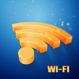 Wi-Fi alaranjado Fotos de Stock