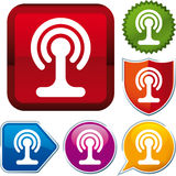 Wi-fi antenna icon Royalty Free Stock Image