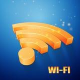 Wi-Fi arancio Fotografie Stock
