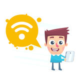 Wi fi available Stock Image