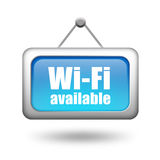 Wi-fi available sign. On white background Stock Photos