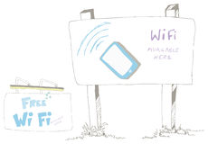 Wi Fi Available Sign Royalty Free Stock Photos