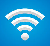 Wi-Fi on blue. Royalty Free Stock Images