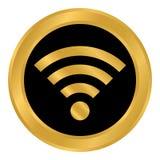 Wi-Fi button on white. Stock Photos