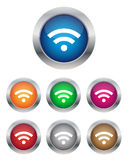 Wi-Fi buttons. Collection of Wi-Fi buttons in various colors Stock Photography