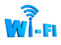 Wi-fi concept. Wifi icon concept on white background stock illustration