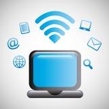 Wi-fi connection design. Illustration eps10 graphic vector illustration