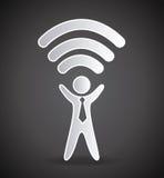 Wi-fi connection design Royalty Free Stock Photos