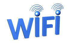 Wi-Fi 3d illustration Stock Images