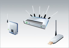 Wi-fi devices Royalty Free Stock Image