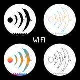 Wi-fi dolphins stock illustration