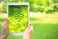 Wi-fi för fri zon begrepp Royaltyfria Foton