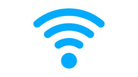 Wi-fi flat icon in PNG format with ALPHA transparency channel stock footage