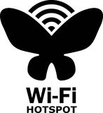 Wi-Fi hotspot zone. Stock Photography