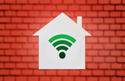 Wi-fi in house Royalty Free Stock Images
