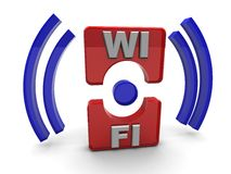 Wi-fi icon Royalty Free Stock Photos