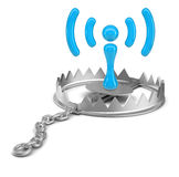 Wi-fi icon in bear trap Stock Photography