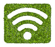 Wi-Fi Icon from the green grass. Royalty Free Stock Photos