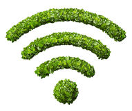 Wi-Fi Icon from the green grass. Stock Photography