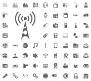 Wi-Fi icon. Media, Music and Communication vector illustration icon set. Set of universal icons. Set of 64 icons.  Vector Illustration