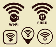 Wi-fi icons Royalty Free Stock Photo