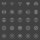 Wi-fi icons Stock Photo
