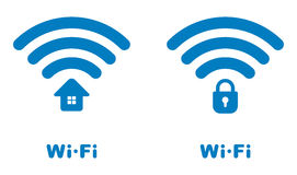 Wi-fi icons Stock Photo