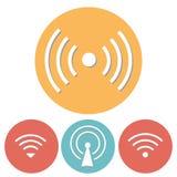 Wi-Fi Icons set of flat design Royalty Free Stock Image