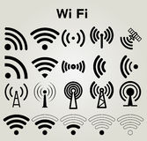 Wi Fi icons set vector illustration Royalty Free Stock Image