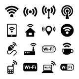 Wi-Fi icons set. Stock Photography